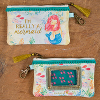Natural Life: Id Pouch - Really A Mermaid Pink