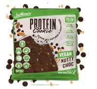 Justine's Vegan Protein Cookies - Nutty Chocolate (12 x 64g)