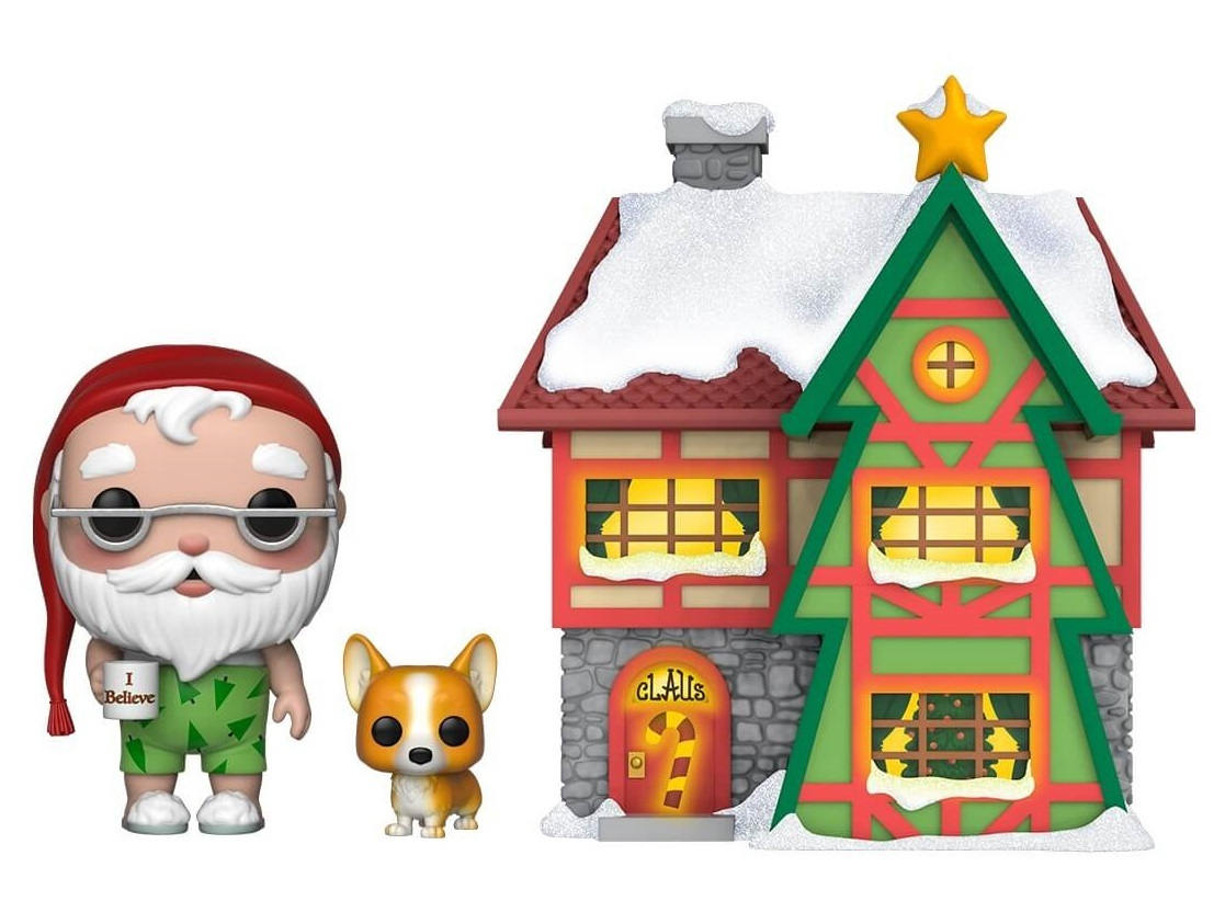 Peppermint Lane: Santa, Nutmeg & Santa's House - Pop! Town Diorama Set image