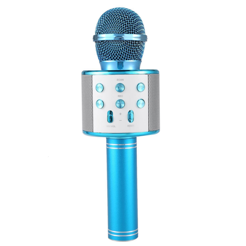 Karaoke Microphone with Bluetooth Speaker - Blue image