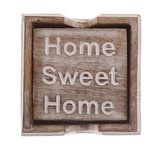 Home Sweet Home - Wooden Coaster Set (4-Pcs)