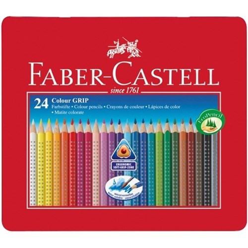Faber-Castell: Grip Colour (Tin of 24)