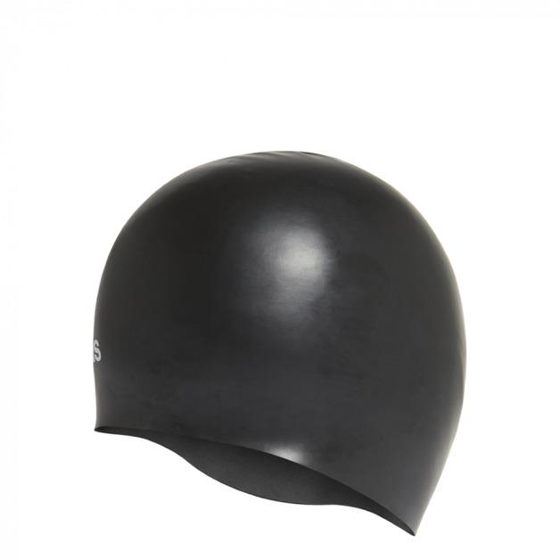 Adidas: Silicone Graphic Swim Cap - Black