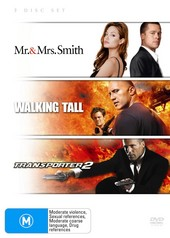 Mr And Mrs Smith / Walking Tall / Transporter 2 (3 Disc Set) on DVD
