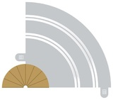 Scalextric 180 Degree Radius 1 Curve Inner Track Borders