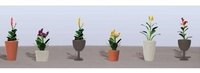 JTT: HO Scale Assorted Potted Flower Plants #4 (6 Pack)