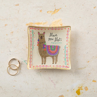 Natural Life: Mini Glass Tray - Llama