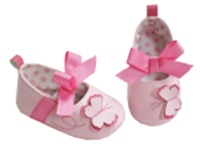 Hi-Hop Butterfly Bow Shoes (0-6 Months) - Pink image