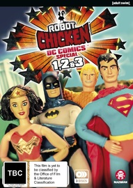 Robot Chicken DC Comics I-III on DVD