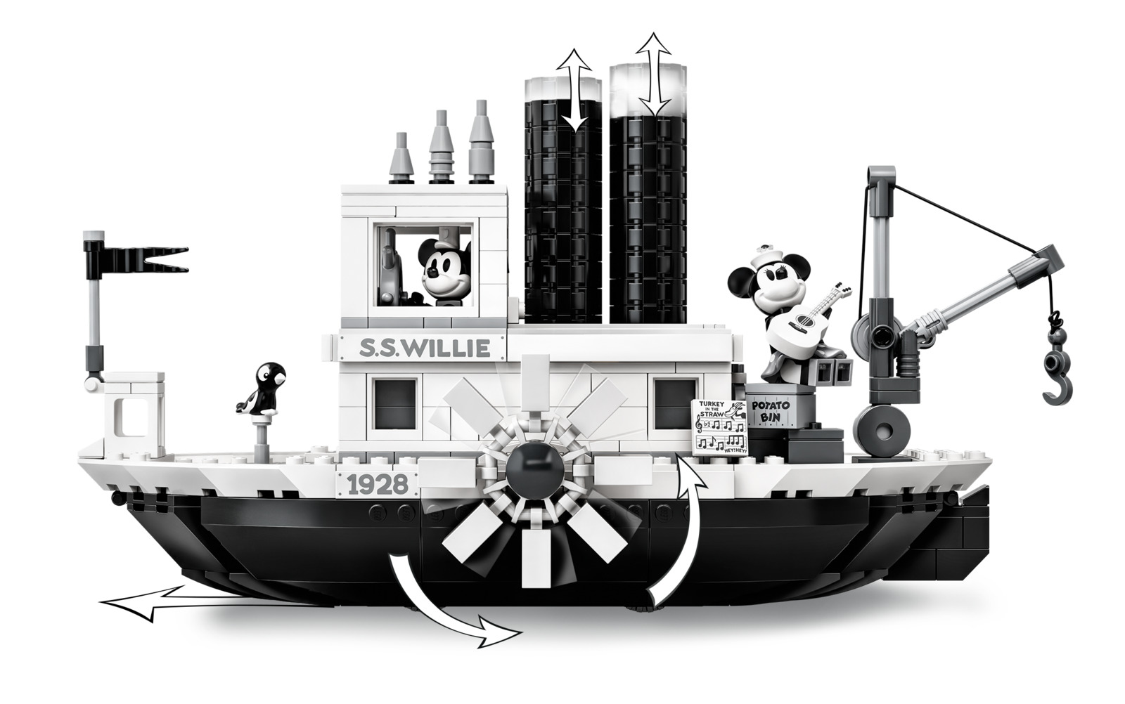 LEGO Ideas: Steamboat Willie (21317) image