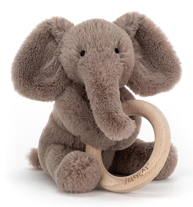 Jellycat: Shooshu Elephant - Plush & Wooden Ring