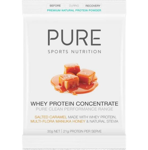 PURE Whey Protein Powder Sachets - Salted Caramel (Box of 25)
