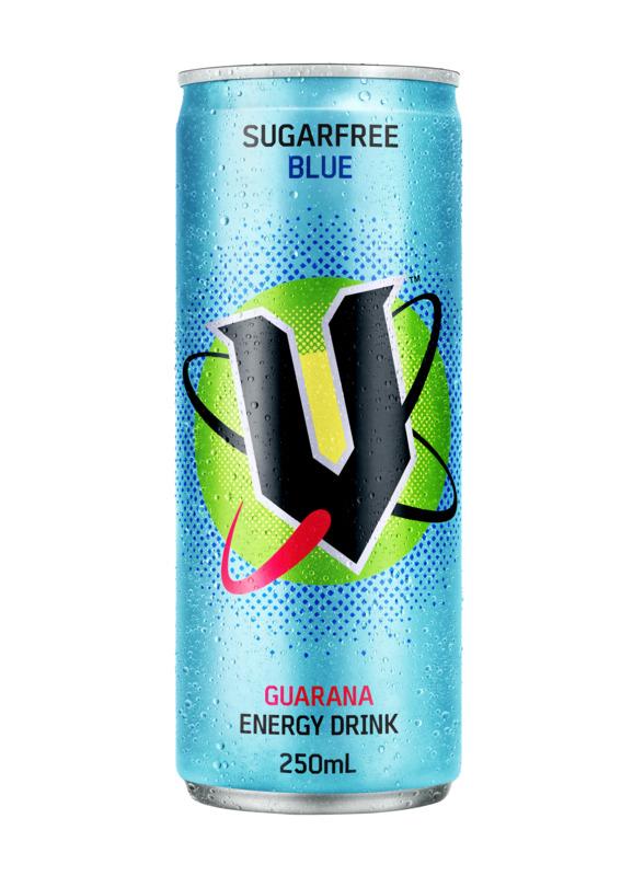 V Blue Sugar Free 250ml (24 Pack)