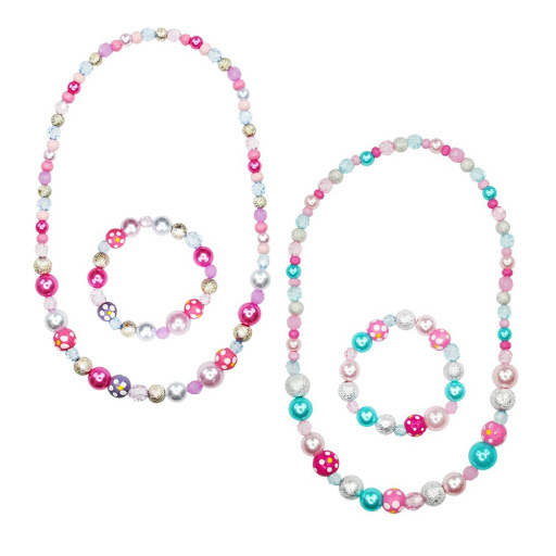 Pink Poppy: Pearl & Wooden Bead Jewellery Set