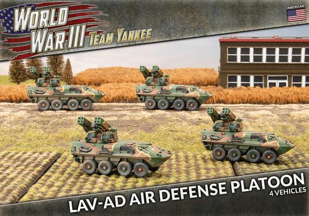 Flames of War: Team Yankee - LAV-AD Air Defense Platoon (x4 Plastic)