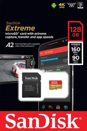 SanDisk: Extreme - 128GB MicroSDXC SD Card