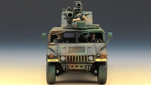 Academy M-966 Hummer with Tow 1/35 Model Kit image