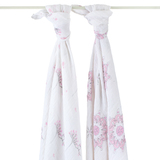 Aden+Anais Swaddle - For the Birds (2 Pack Swaddling Wraps)