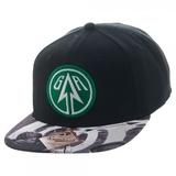 Green Arrow Sublimated Bill Snapback Cap