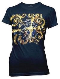 Doctor Who: Van Gogh Exploding Tardis T-Shirt - Large