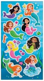 Peaceable Kingdom: Glitter & Foil Stickers - Mermaids image
