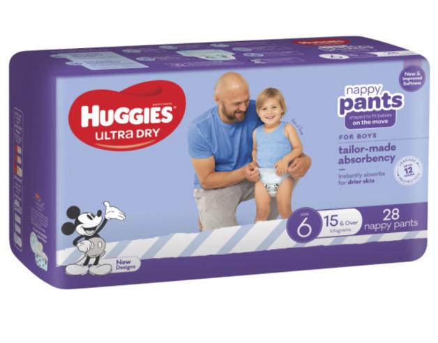 Huggies: Ultra Dry Nappy Boy Pants - Size 6 (28 Pack)