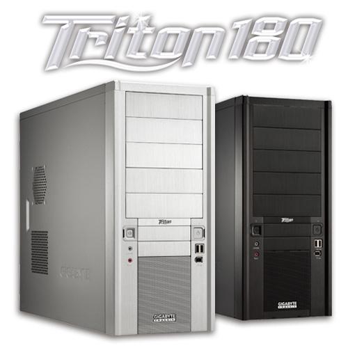 GIGABYTE TRITON 180 ATX CASE 2 FANS FWIRE BLACK image