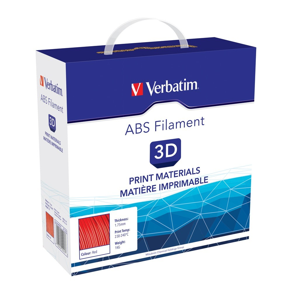 Verbatim 3D Printer ABS 1.75mm Filament - 1kg (Red) image