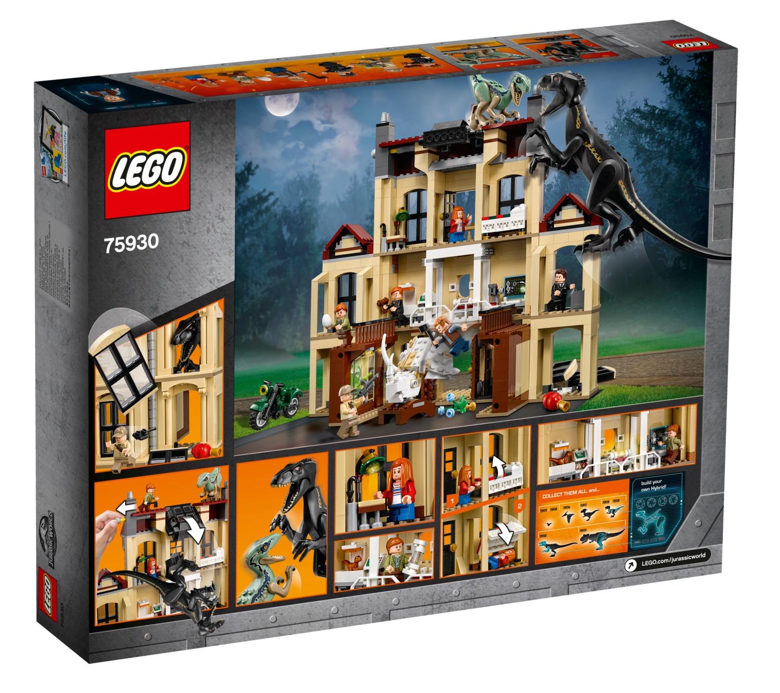 Lego Jurassic World Indoraptor Rampage At Lockwood Estate