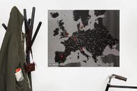 Palomar PinCountry Felt Travel Map Diary - Europe