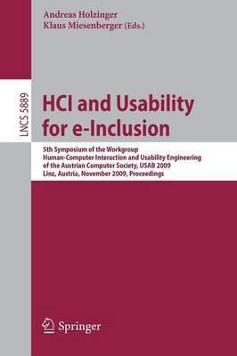 HCI and Usability for e-Inclusion