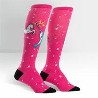 Womens - Unicorn vs Narwhal Knee High Socks