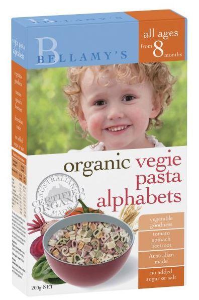 Bellamy's - Organic Vegie Alphabet (200gm)