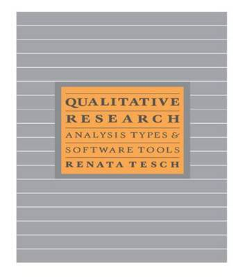 Qualitative Research: Analysis Types and Software by Renata Tesch image