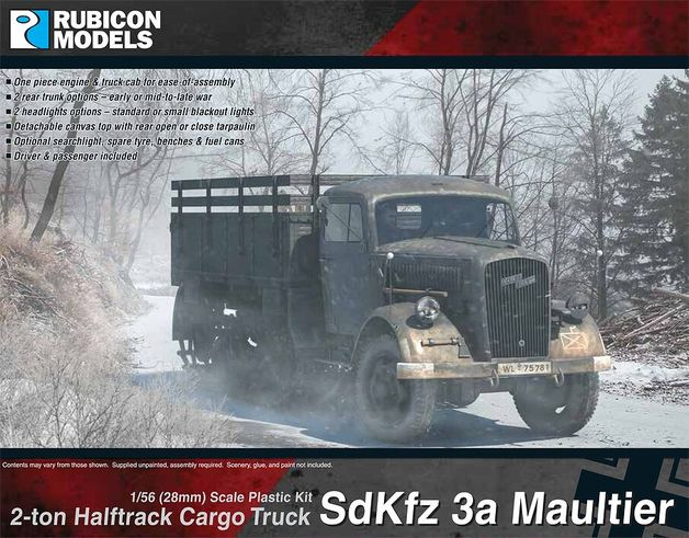 Rubicon 1/56 SdKfz 3a Opel Maultier (Base Kit)