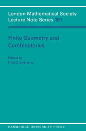 Finite Geometries and Combinatorics image