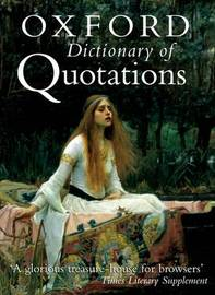 The Oxford Dictionary of Quotations image