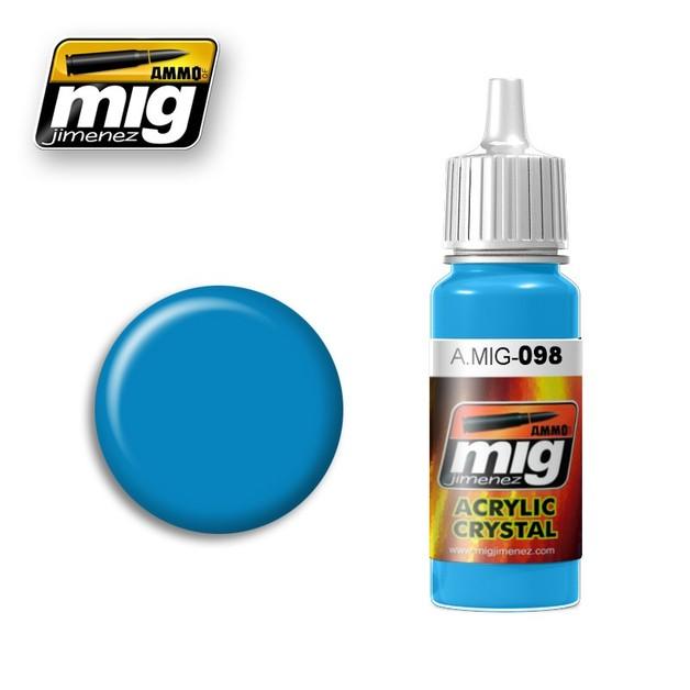 Ammo of Mig Jimenez Acrylic Paint - Crystal Light Blue (17ml)