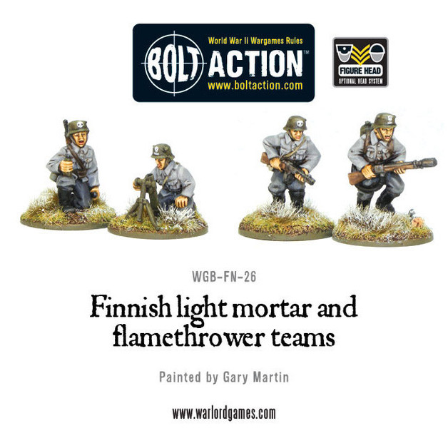 Finnish Army - Light Mortar & Flame Thrower