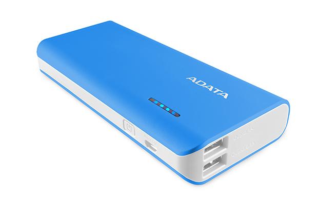 ADATA: PT100 10,000mAh Powerbank with Flashlight - Blue/White image