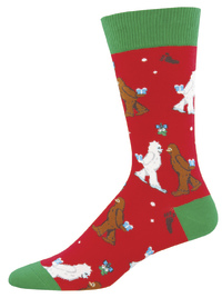 Socksmith: Men's Red Mythical Kissmas Christmas Crew Socks image