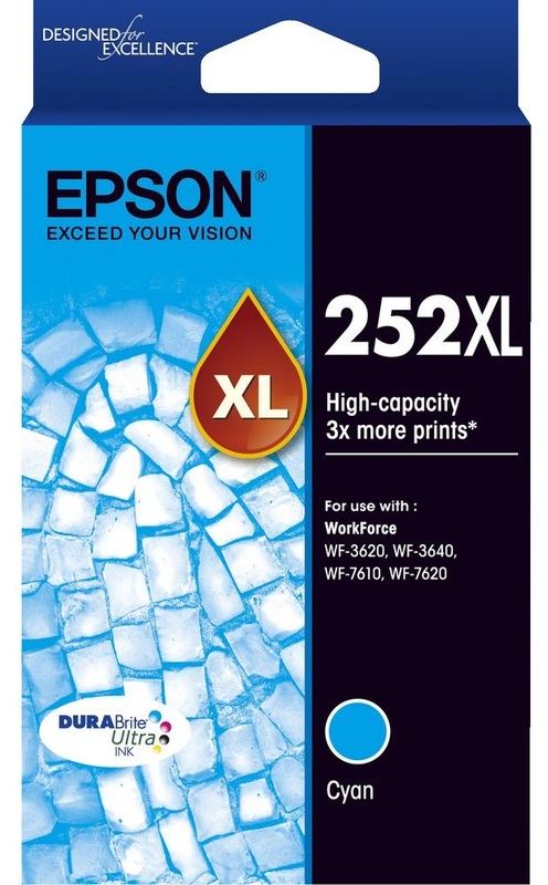 Epson Ink Cartridge - 252XL (Cyan)