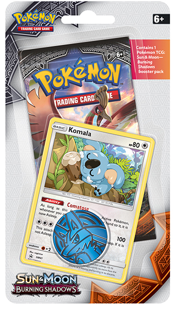 Pokemon TCG Burning Shadows Checklane Booster: Komala