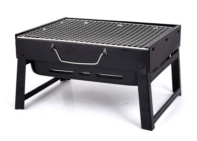 Foldable and Portable Charcoal BBQ Grill