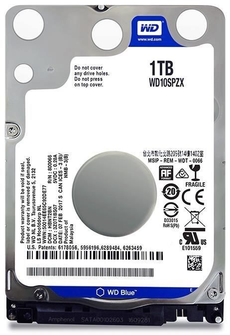 "1TB WD Scorpio Blue 2.5"" HDD 5400 RPM (Fits PS3+PS4) image"