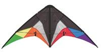 """HQ Kite: Quickstep II (Black Rainbow) - 53"""" Stunt-Kite"""