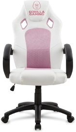 Gorilla Gaming Chair - Pink & White for
