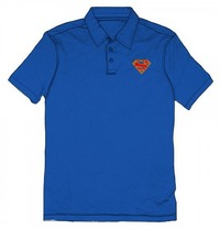 DC Comics: Superman Emblem - Logo Royal Polo (Medium)