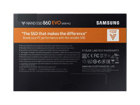1TB Samsung 860 EVO V-NAND M.2 (2280) SSD SATA III 6GB/s, R/W(Max) 550MB/s/520MB/s image