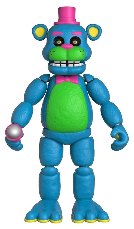 """Five Nights at Freddy's - Black Light Freddy 5"""" Articulated Figure"""